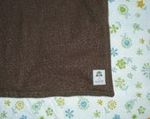 Wool and Cotton Baby Blanket - 36 x 36