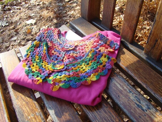 Crocheted multi colored collar