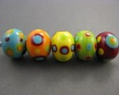 Twinstar Lampwork Beads - Rainbow Fun Mix