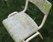 London Map Chair, 1950's/1960's Bentwood Chair