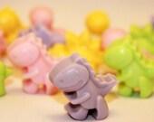 Cute little dinosaur goats milk soaps, party favors