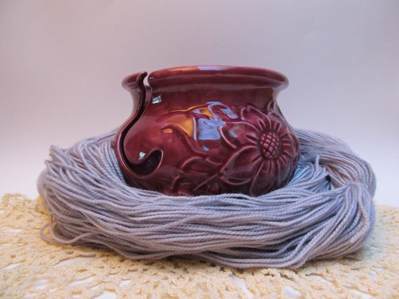Plum Blush yarn bowl