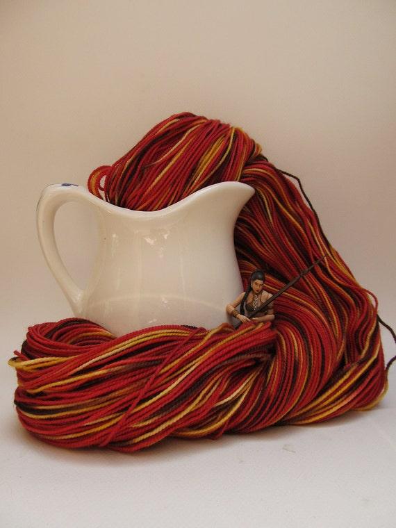 Slave Princess - hand dyed sock yarn in Superwash Wool/Nylon