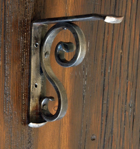 Wall Shelf Bracket Forged by a Blacksmith Traditional - Style 01