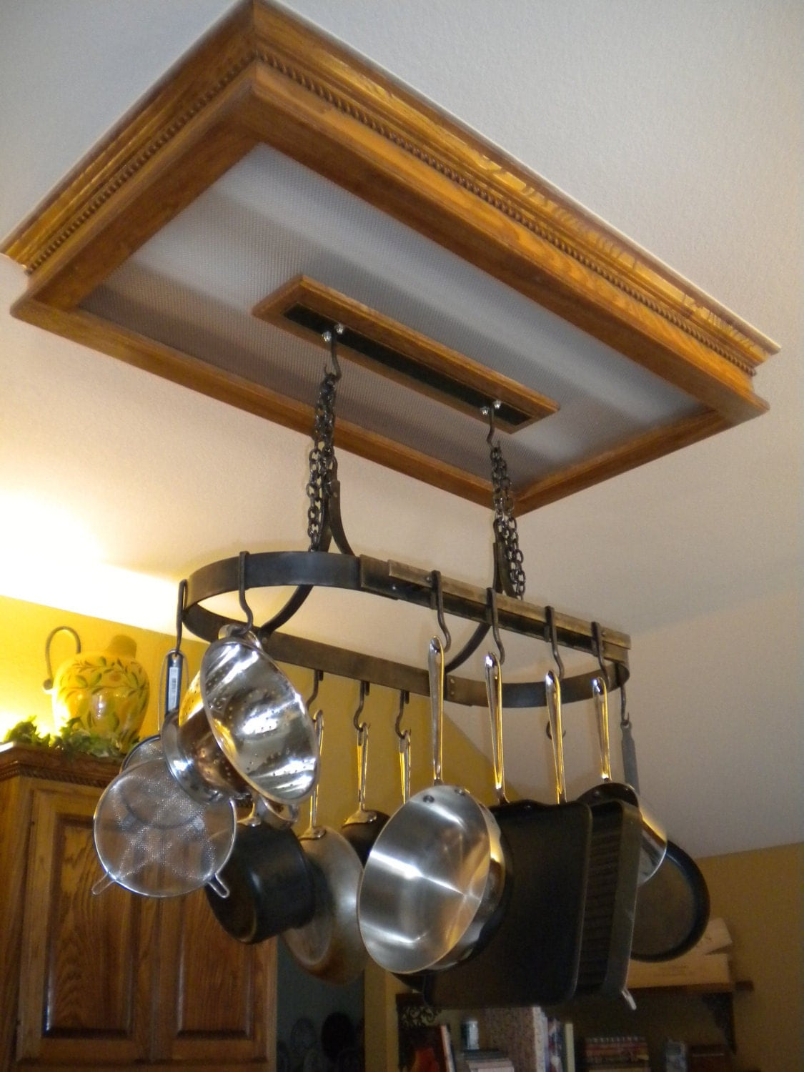 Hanging Pot Rack With 10 Hooks Hand Forged by a Blacksmith