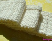Knitted Dishcloth, Washcloth, Facecloth, White Cotton 3-Pack for Kitchen or Bath & Beauty, Housewarming or Hostess Gift