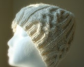 RESERVED for Judi - Aran Cable Knit Ski Hat in 100% natural Alpaca, Buttercream, Cream, Ivory, White, Winter White, Winter Fashion, Unisex