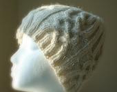 RESERVED for Judi - Aran Cable Knit Ski Hat in 100% natural Alpaca, Buttercream, Cream, Ivory, White, Winter White, Winter Fashion, Unisex