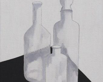 Still Life with three bottles