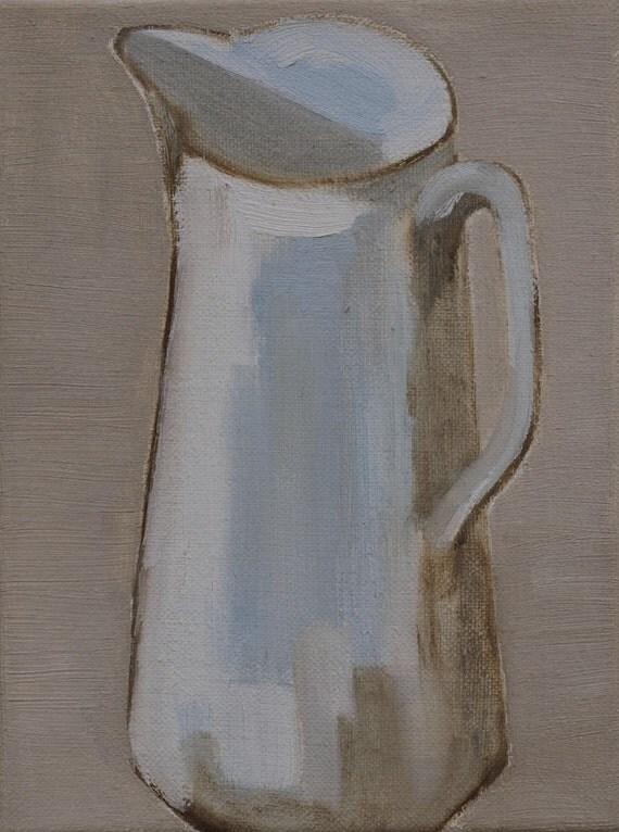 Still life with jug on linen