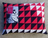 A Drug Free America Comes First patchwork triangle KEITH RICHARDS pillow ooak