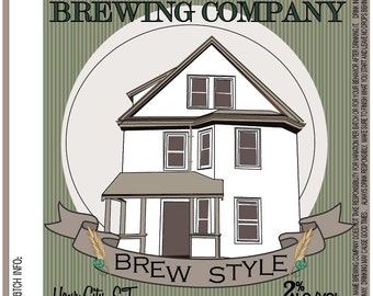 Home Brew Customized Beer Label - Ode to d'Ville