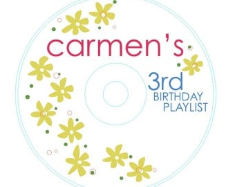 happiest birthday cd labels