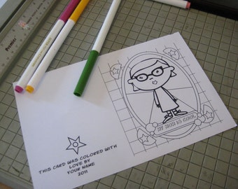 my mom is cool - printable, coloring, greeting card