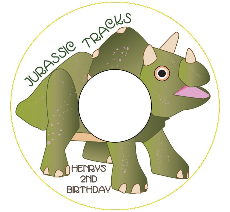 jurassic tracks custom printable cd label