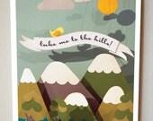 "Mountain/ Hills Print (8""x10"")"