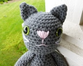 Ashes the Cat Crocheted Toy - CurlyTopCorner
