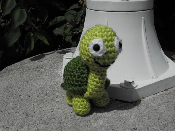 MADE TO ORDER-Shelton the Turtle Crocheted Toy