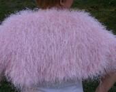 Prom - Spring Dance - Formal - Beautiful Faux Fur Shrug - Knit Shrug