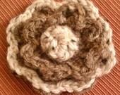 Pretty Flower Pin - Crochet