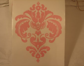 5 Huge Pink Fleur De Lis Sticker Embellishments