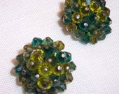 Laguna Glass Bead Clip on Earrings