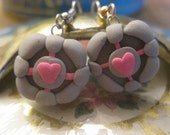 Weighted Companion Cube Earrings