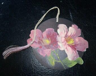 Floral Die Cut Tally Card, 1930s, Chas. Clarke, Bavaria