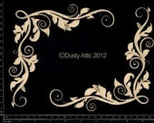 Dusty Attic Chipboard  - Corner Flourish 3 DA0623