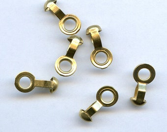 10 Brass Ball Chain Connectors