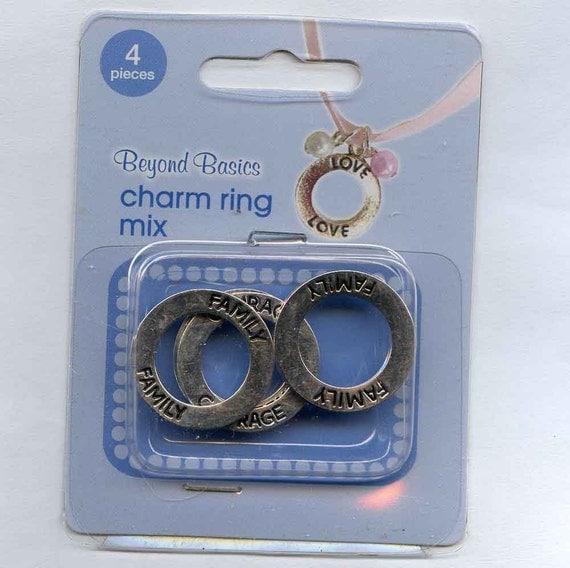 Circle Charm Rings
