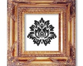 Damask black on white cross stitch pattern pdf