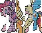 cross stitch The Mane Six: My Little Pony .pdf patterns discount 6 for the price of 4