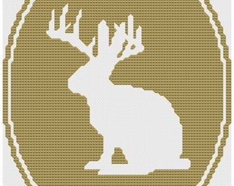 jackalope cross stitch pattern .pdf