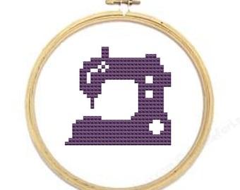 sewing machine cross stitch pattern