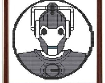 Cyberman cross stitch pattern pdf dr who