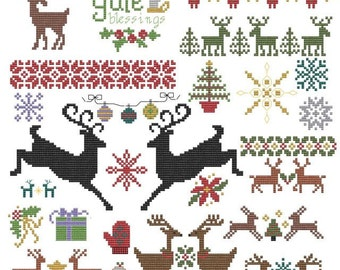 Winter Holiday Pattern Collection pdf christmas yule chanukah solstice snow
