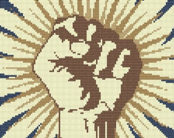 cross stitch pattern Victory Fist .pdf
