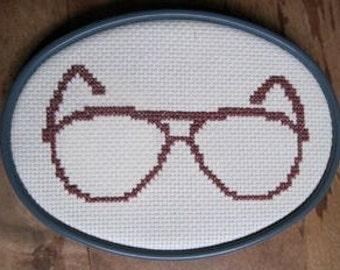 cross stitch pattern - hipster spectacles 6