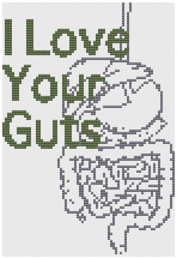 Love your Guts.. cross stitch pattern