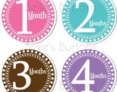 BeLLe'S BuTtONs - STARBURST GIRL - Baby Monthly Onesie Stickers