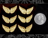 Joined Wings Raw Brass Set of Six   B:C44