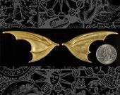 Huge Raw Brass Bat Wings - One Set of Wings  B:P55