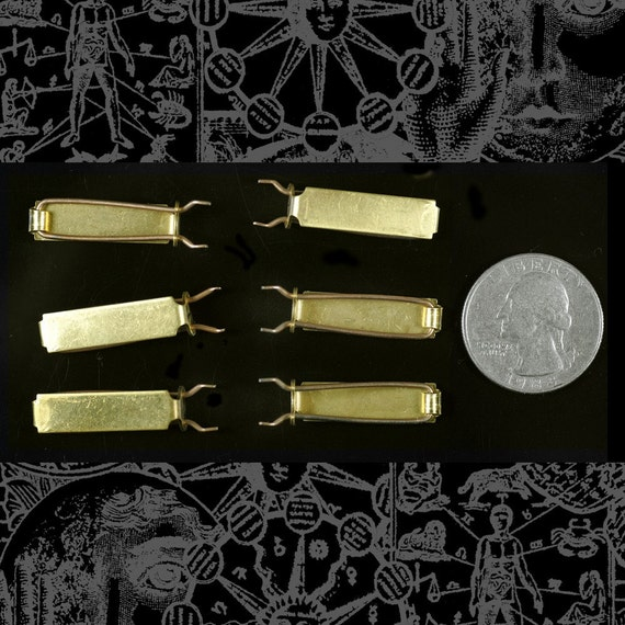 Heavy Brass Small Barrette Blanks Set of Six