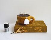 Made to Order - Crochet Teacup Golden Yellow by SheepishKnitCrochet