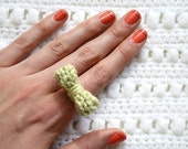 Knit Bow Ring - Mint