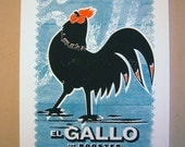 El Gallo (The Rooster) limited edition screen print