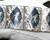 REDUCED Siam Sterling Niello Bracelet  Free Domestic First Class Shipping