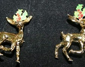 Reindeer Pins/Brooches Twins by Gerry's