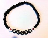 Choose Your Color! HEART NKOTB Beaded Bracelet